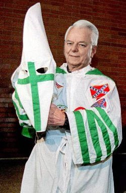 Image result for Robert Byrd in his KKK garb