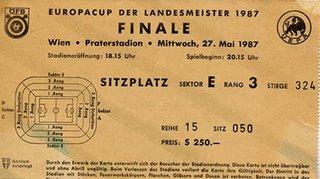 Porto Final da Taca dos Campeões -Bilhete - Vienna 1997