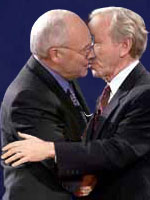 joe lieberman dick cheney kiss