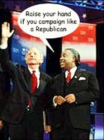 Joe Lieberman Al Sharpton