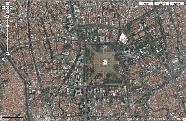 Marek bialoglowys blog google shoots a satellite photo of jakarta unfortunately the map is approximately 2 years old so if you need a very accurate current map of jakarta or it is a commercial project youll probably publicscrutiny Image collections