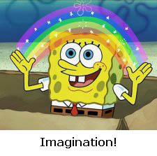 spongebob imagination raindbow