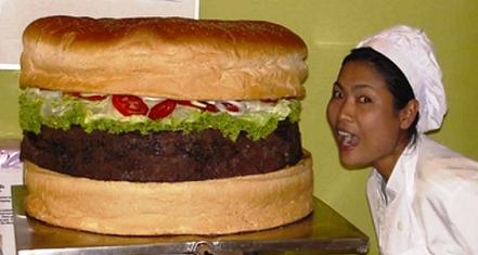 The world's largest burger.