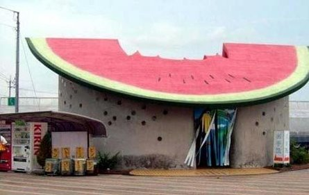Gigantic watermelon house.