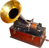 An Edison cylinder phonograph.