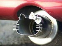 A Hello Kitty exhaust pipe.
