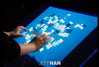Demonstration of a multi-touch interface by Jefferson Han