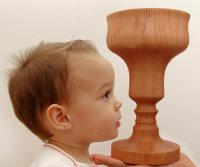 Pirolette - A carved wooden vessel with a profile that matches yours.