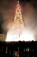 Europe's highest artificial Christmas tree.