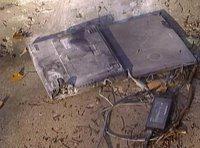 A damaged Sony Vaio laptop