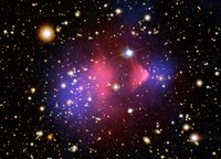 Image which proves the existence of dark matter