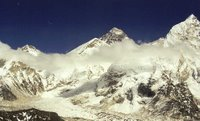 Mt Everest and the high Himalayas