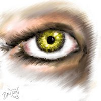 Artistic sketch of an eye