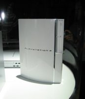 A Sony play station 3 on display.