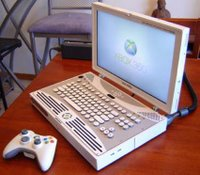 Converting an Xbox 360 into a laptop.
