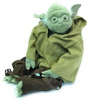 A Yoda plush backpack.