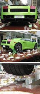 High tea with Lamborghini.