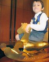 A gold pony.
