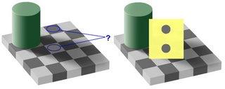 An optical illusion.