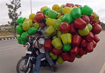 Buckets on a bike » image bucket