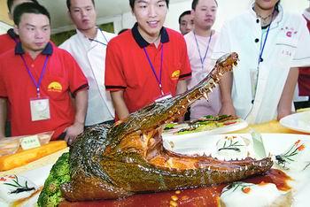 Croc meal.