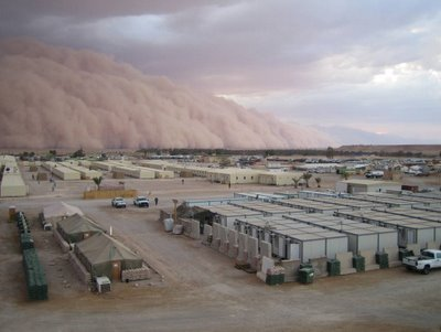An approaching sand storm.