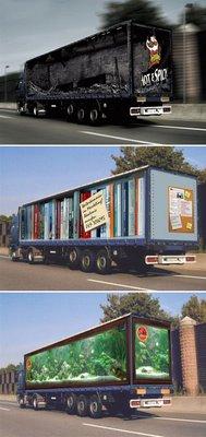 Creative ads on trucks
