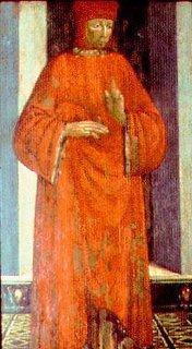 A portrait of Datini by Tomaso del Trombetto