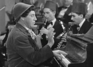 Chico Marx plays second movement of Beer Barrel Polka