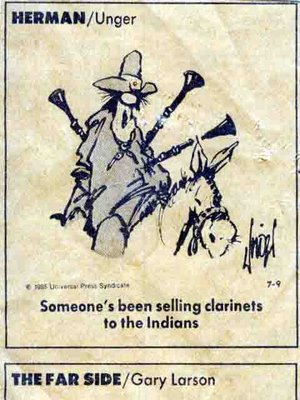 Herman cartoon by Unger - Someone's been Selling Clarinets to the Indians