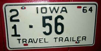 Iowa license plate #56