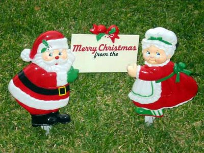 Seasons Greeting from Two Plastic Figures Who Wish to Remain Anonymous