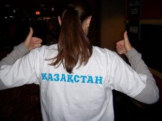 Aren't you jealous of my official Kazakhstan t-shirt?