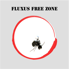 fluxus free zone with red circle, Allan Revich
