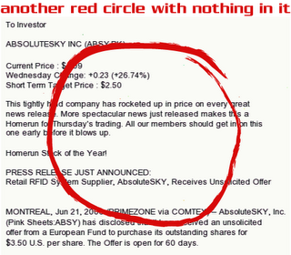 Red Circle with Nothing in it Stock Spam by Allan Revich