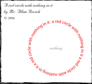 a red circle with nothing in it by mr. allan revich