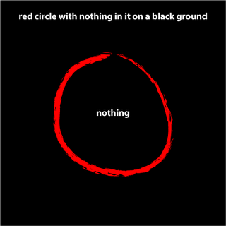 red circle with nothing in it on a black ground, by Allan Revich