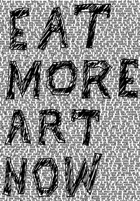 red circle says, eat more art now