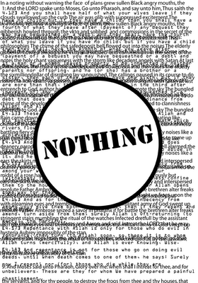 nothing for koranospam: A Visual Poem by Allan Revich