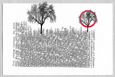 D. Ross Priddle-scape and a circle with nothing in it behind a tree, an unauthorized collaboration between D. Ross Priddle and Allan Revich