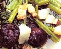 Chinese mustard cabbage with mushroom recipe