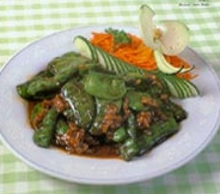 Braised Green Beans Vegetarian Food