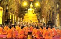 Monks Khao Phansa UbonRatchathani Thailand