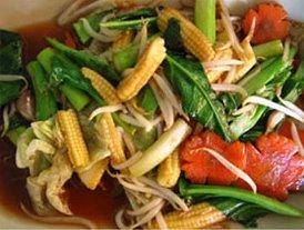 Pad Puk Ruam Mit is Vegetarian Delight of Thai Food