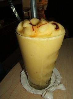 Wonderful Peach Mango Lassi smoothie