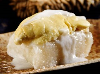 Sweet Sticky Rice with Durian is Thai Dessert