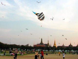 Thai Kite Festival Sanamluang Thailand