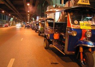 Tuk Tuk Waiting Passengers Bangkok Thailand