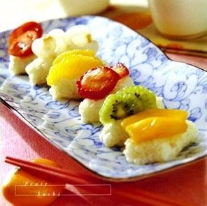 fruit sushi vegetarian food