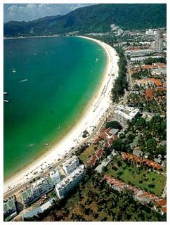 Thailand Phuket Patong Beach Above